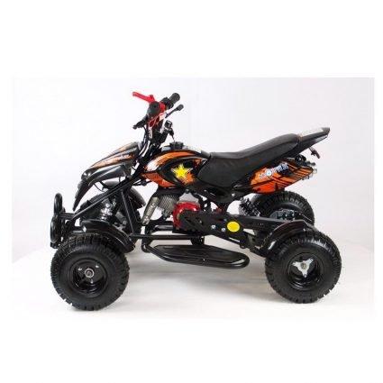 Детский квадроцикл бензиновый MOTAX ATV H4 mini-50 cc Черно- оранжевый (до 45 км/ч)