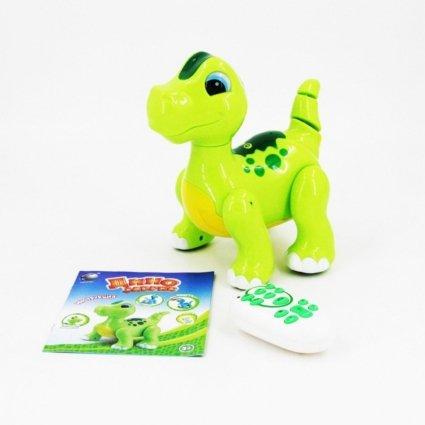Радиоуправляемый интерактивный зеленый робот динозавр - 2056A