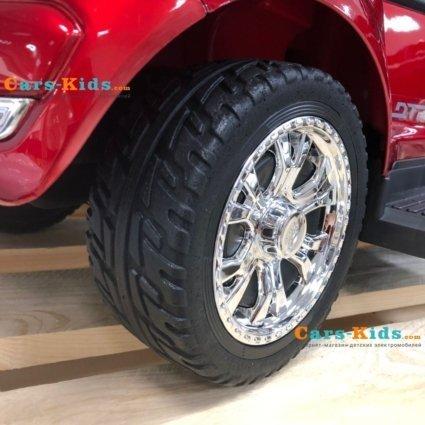 Толокар Ford Ranger DK-P01 черный (колеса резина, кресло кожа, свет фар, музыка)