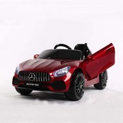 Электромобиль Mercedes Benz GT O008OO глянцевый (колеса резина, кресло кожа, пульт, музыка)