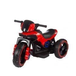 Электромотоцикл Y-MAXI Police Red - SW198A красный (колеса резина, кресло кожа, музыка)