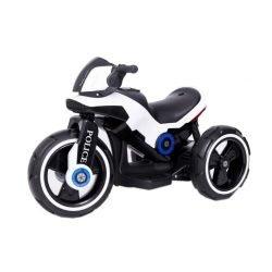 Электромотоцикл Y-MAXI Police White - SW198A белый (колеса резина, кресло кожа, музыка)